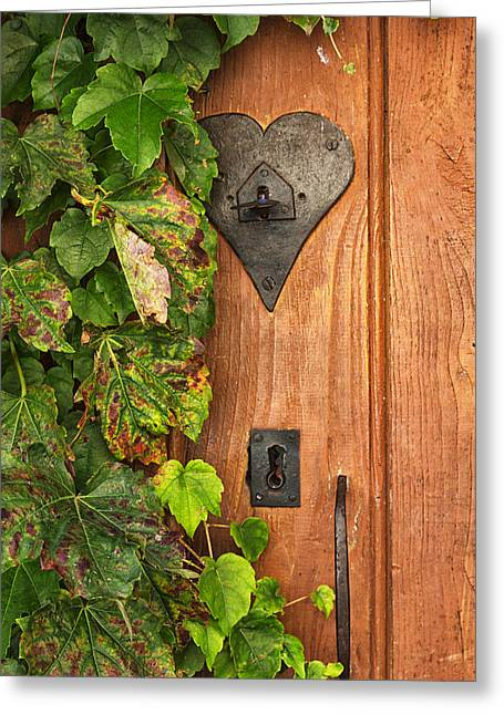 French Doors Greeting Cards - Door to my Heart Greeting Card by Nomad Art And  Design