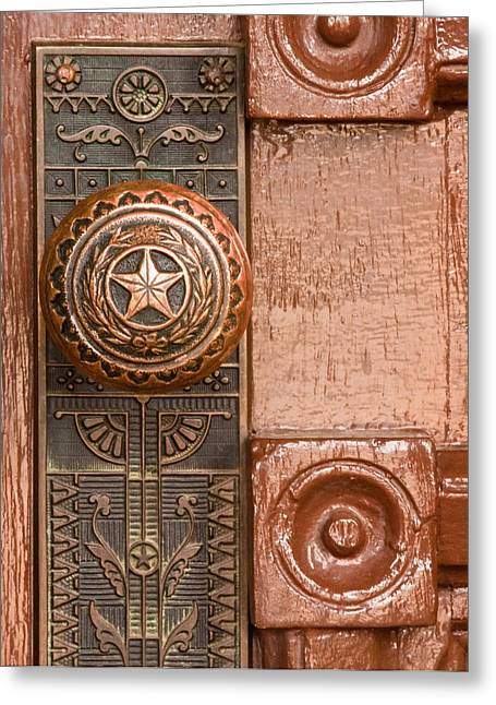 Door Knob Greeting Cards - Door to Texas State Capital Greeting Card by David and Carol Kelly