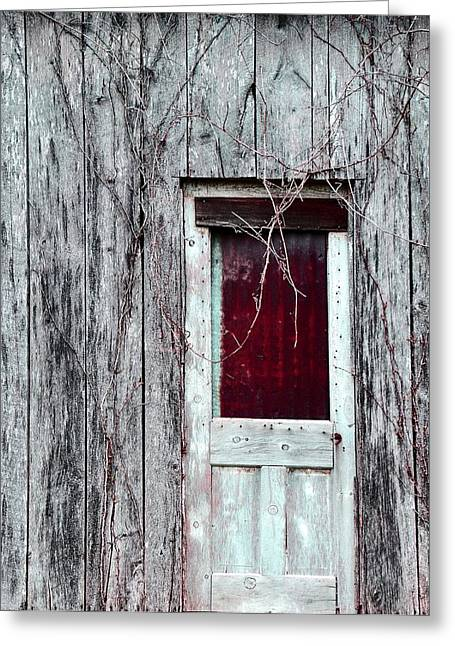 Barn Door Greeting Cards - Door To The Past Greeting Card by Deena Stoddard