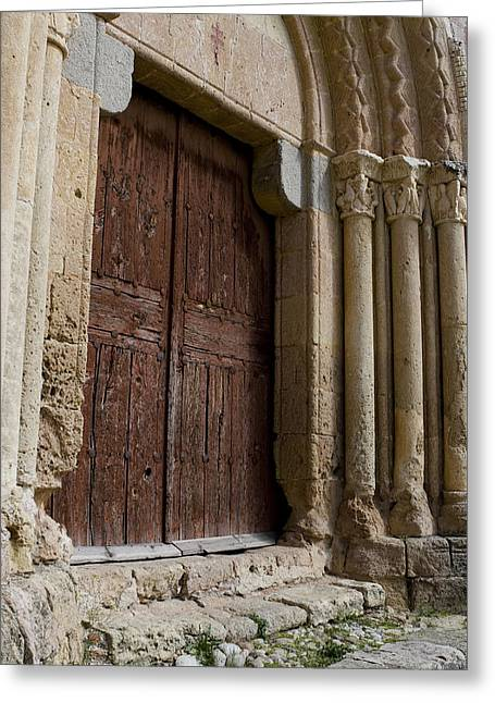 True Cross Greeting Cards - Door to the Templar Church Greeting Card by Lorraine Devon Wilke