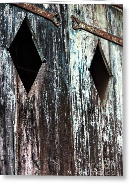 Print Photographs Greeting Cards - Door Triangles Greeting Card by John Rizzuto