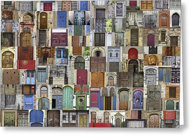Entryway Greeting Cards - Door World Greeting Card by Daniel Hagerman