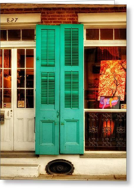 French Door Greeting Cards - Doors and Window Greeting Card by Chrystal Mimbs