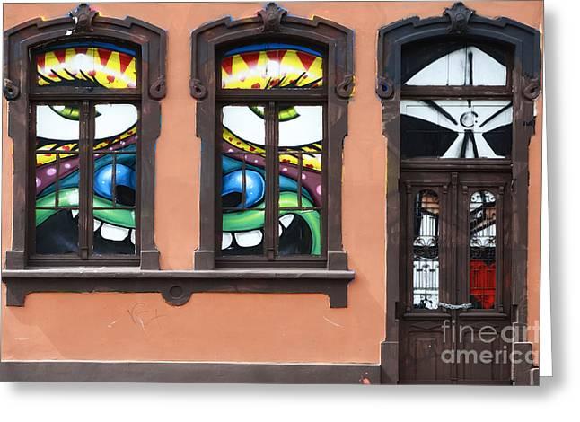Doors And Windows Curitiba Brazil 1 Greeting Card by Bob Christopher
