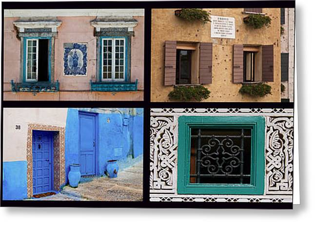 Entrance Door Greeting Cards - Doors And Windows In The World Greeting Card by Enrico Mariotti