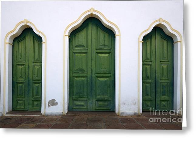 Old Door Greeting Cards - Doors And Windows Lencois Brazil 6 Greeting Card by Bob Christopher