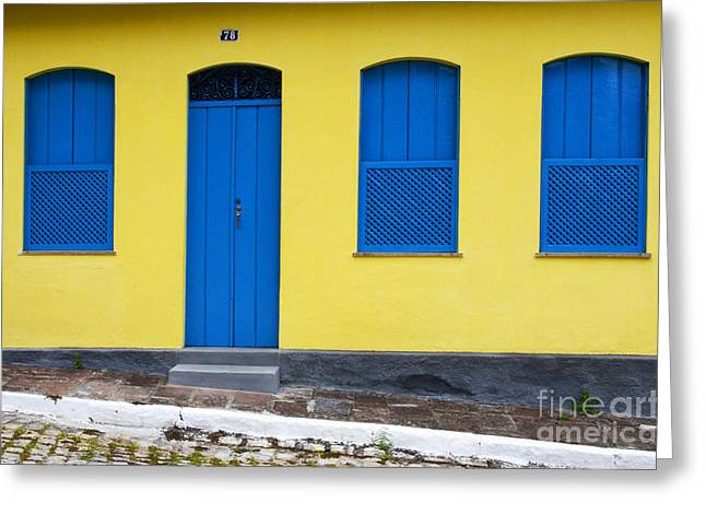Old Door Greeting Cards - Doors And Windows Lencois Brazil 8 Greeting Card by Bob Christopher