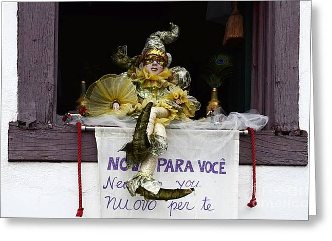 Old Door Greeting Cards - Doors And Windows Minas Gerais State Brazil 10 Greeting Card by Bob Christopher