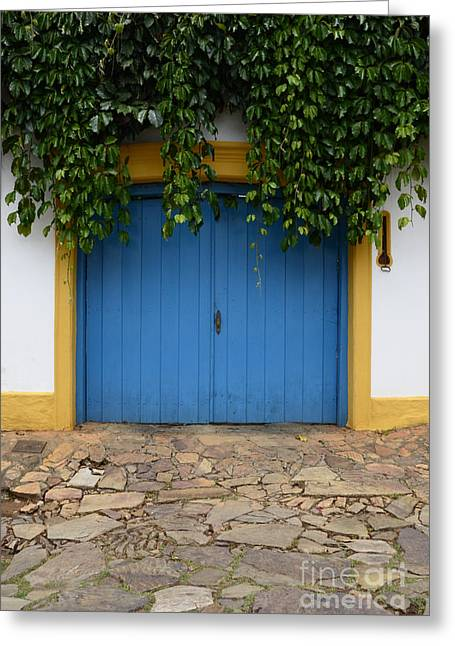 Old Door Greeting Cards - Doors And Windows Minas Gerais State Brazil 11 Greeting Card by Bob Christopher