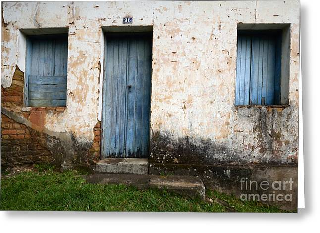 Doors And Windows Greeting Cards - Doors And Windows Minas Gerais State Brazil 16 Greeting Card by Bob Christopher