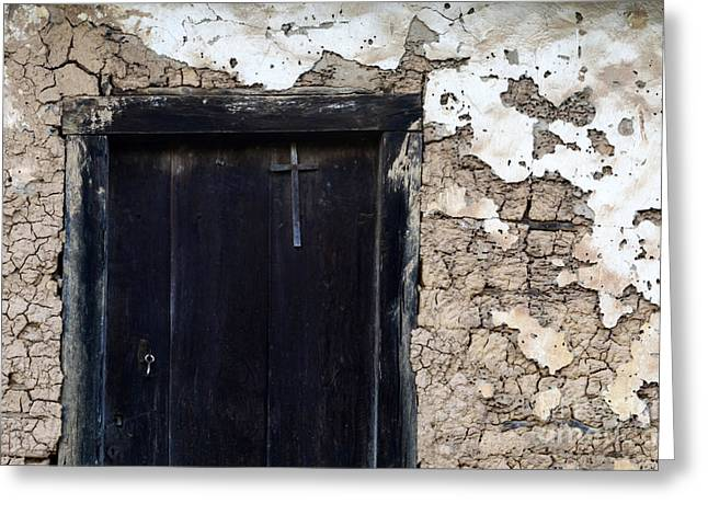 Old Door Greeting Cards - Doors And Windows Minas Gerais State Brazil 7 Greeting Card by Bob Christopher