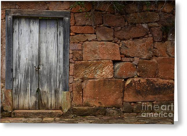 Doors And Windows Greeting Cards - Doors And Windows Minas Gerais State Brazil 3 Greeting Card by Bob Christopher