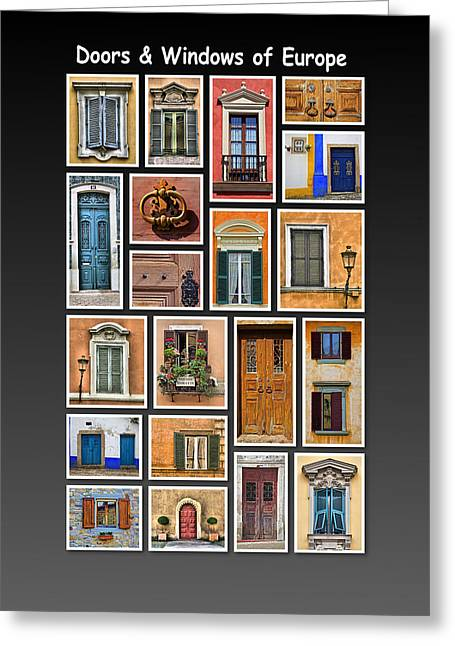 David Letts Greeting Cards - Doors and Windows of Europe Greeting Card by David Letts