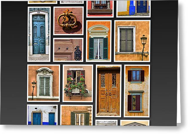 Doors and Windows of Europe Greeting Card by David Letts