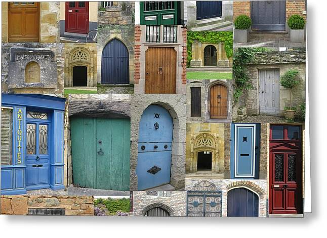 French Door Greeting Cards - Doors in France and Belgium Greeting Card by Cathy Jacobs