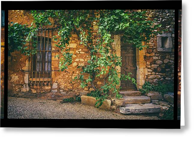Provence Village Greeting Cards - Doors in Roussillon Greeting Card by Radka Linkova