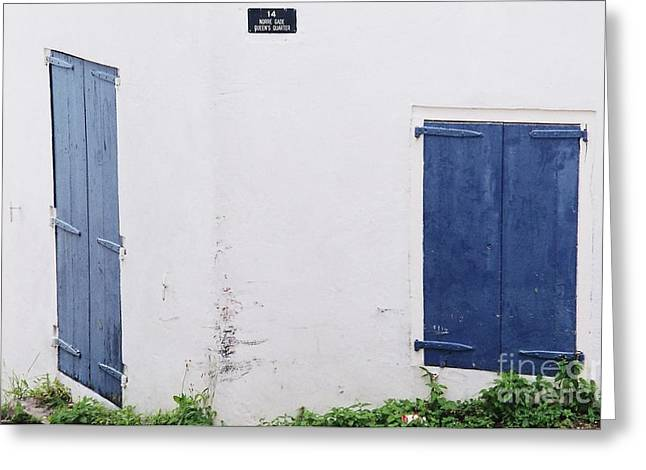 Charlotte Framed Photography Greeting Cards - Doors In St.Thomas 2 Greeting Card by Marcus Dagan