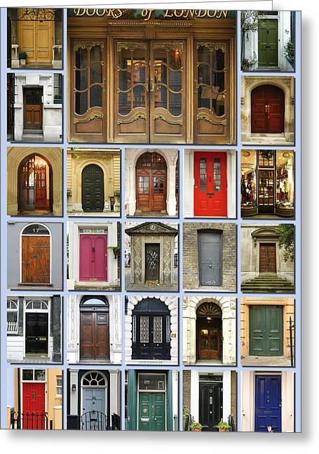 Buckingham Palace Greeting Cards - Doors of London Greeting Card by Heidi Hermes
