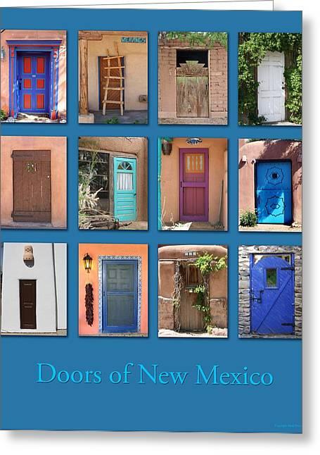 Santa Fe Greeting Cards - Doors of New Mexico Greeting Card by Heidi Hermes