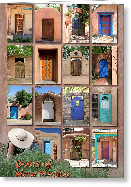 Doors Of New Mexico II Greeting Card by Heidi Hermes