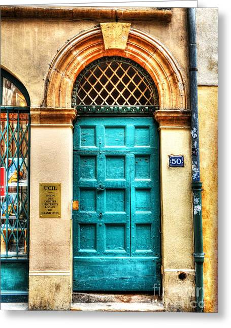 Doors Of Old Lyon Greeting Card by Mel Steinhauer