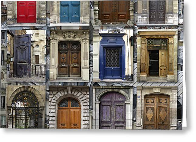 Doors of Paris Greeting Card by Heidi Hermes