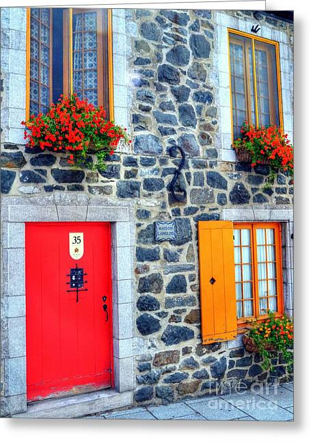 Quebec Scenes Greeting Cards - Doors Of Quebec 2 Greeting Card by Mel Steinhauer