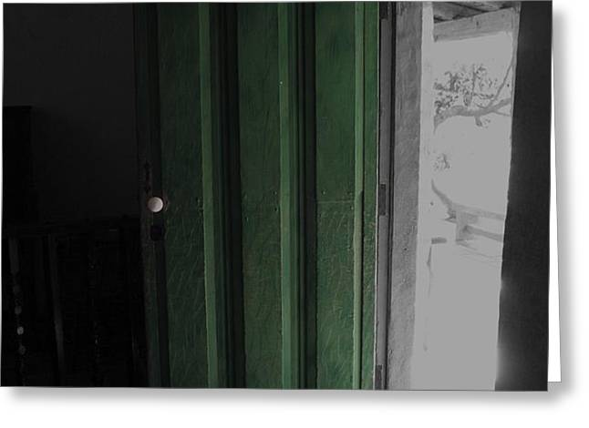 Doors Open Greeting Card by Cheryl Young