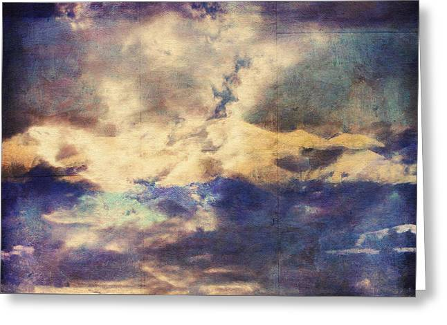 Doors To Another World Abstract Greeting Card by Georgiana Romanovna