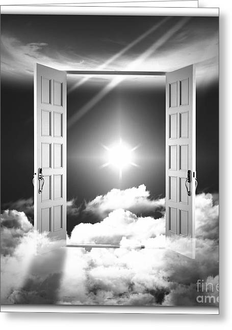 Heavens Gate Greeting Cards - Doors to Paradise Greeting Card by Stefano Senise