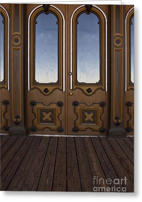 Entrance Door Greeting Cards - Doors to the Old West Greeting Card by Margie Hurwich