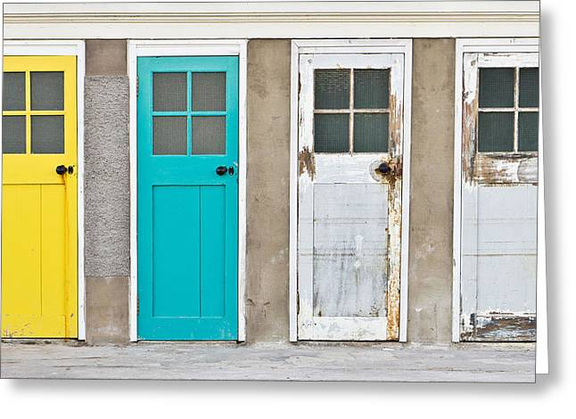 Cupboard Greeting Cards - Doors Greeting Card by Tom Gowanlock
