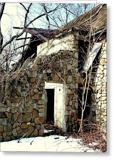 Stonewall Greeting Cards - Doorway back through time Greeting Card by Janine Riley