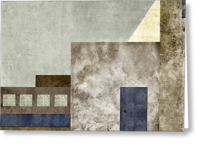 Stucco Greeting Cards - Doorway to Geometry Greeting Card by Carol Leigh