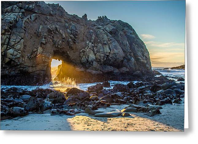 Pfeiffer Beach Greeting Cards - Doorway to Heaven Greeting Card by Pierre Leclerc Photography