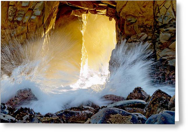 Illuminates Greeting Cards - Doorway To The Pacific Ocean Greeting Card by Patricia Sanders