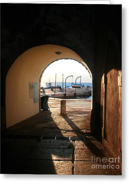 Aperture Greeting Cards - Doorway To The Sea Greeting Card by Nina Ficur Feenan