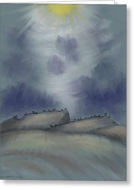Horizon Pastels Greeting Cards - Doorway to the Sun Greeting Card by Dawn Senior-Trask