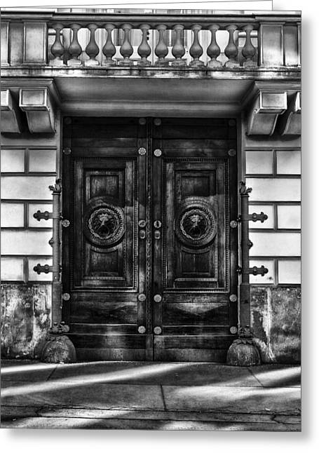 Old Vienna Greeting Cards - Doorway to Vienna Greeting Card by Mountain Dreams