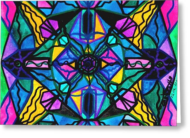 Sacred Greeting Cards - Dopamine Greeting Card by Teal Eye  Print Store