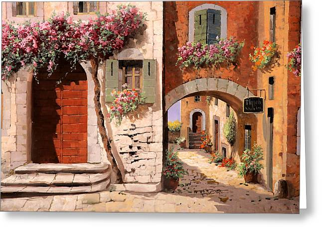 Doors Greeting Cards - Doppia Casa Greeting Card by Guido Borelli