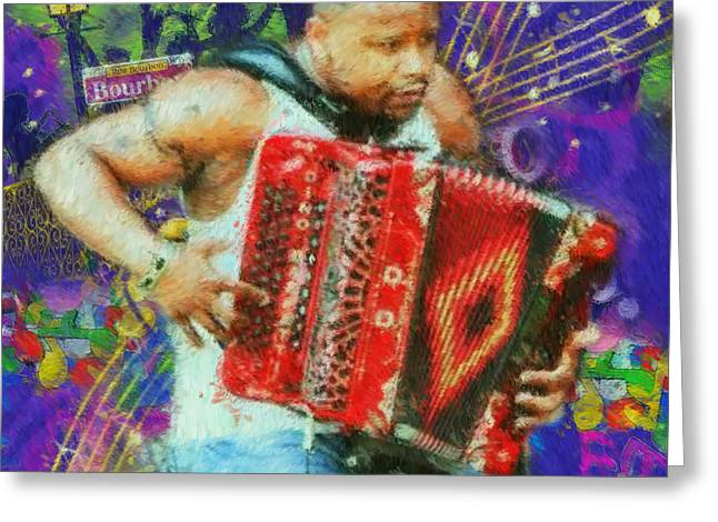 Jazz Greeting Cards - Dopsie Greeting Card by Kevin Rogerson