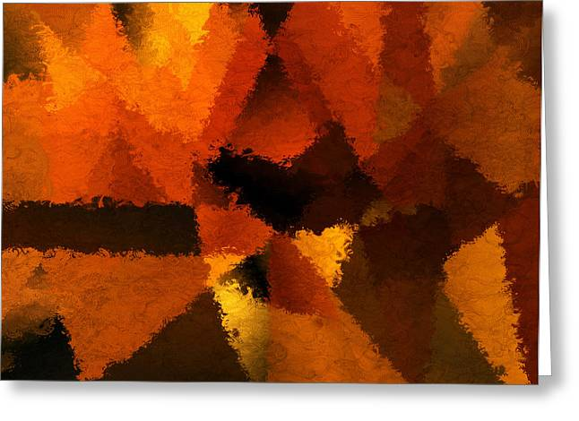 Abstract Impressionism Digital Art Greeting Cards - Dor Memoire Greeting Card by Lourry Legarde