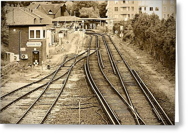 Railroad Greeting Cards - Dorchester South Greeting Card by Johnny Wills