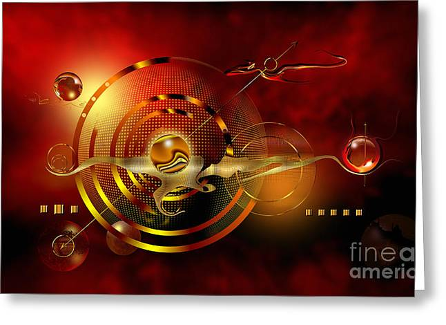 Technical Digital Art Greeting Cards - Dore dans le universe Greeting Card by Franziskus Pfleghart