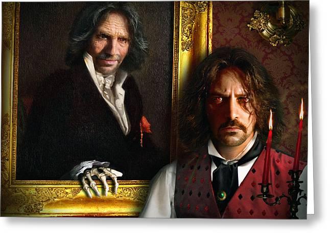 Oscar Wilde Digital Art Greeting Cards - Dorian Greeting Card by Alessandro Della Pietra