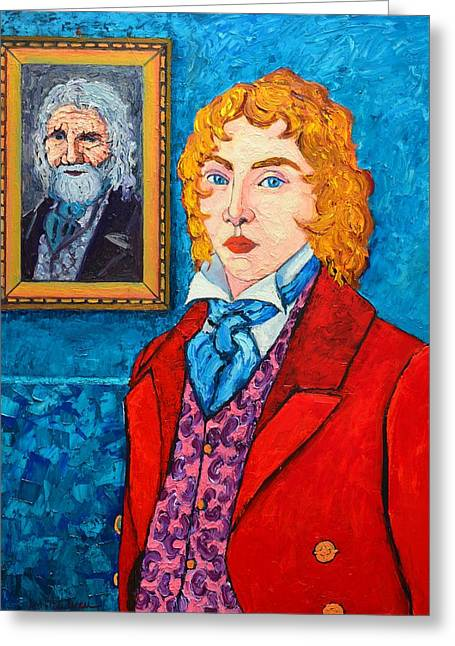Character Portraits Greeting Cards - Dorian Gray Greeting Card by Ana Maria Edulescu