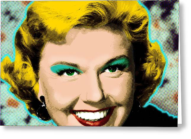 Doris Day Greeting Card by Gary Grayson