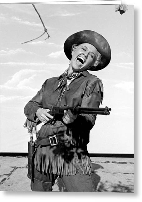 Musical Film Photographs Greeting Cards - Doris Day in Calamity Jane  Greeting Card by Silver Screen
