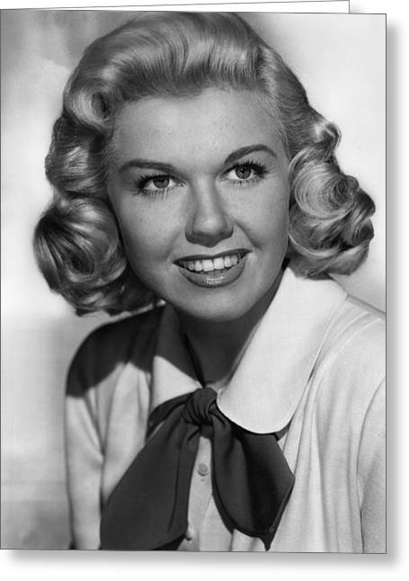 1950s Portraits Photographs Greeting Cards - Doris Day in Its a Great Feeling Greeting Card by Nomad Art And  Design